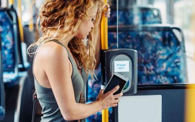 Kontaktlose Kartentechnologie in öffentlichen Verkehrsmitteln